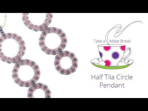 (31) Half Tila Circle Pendant | Take a Make Break with Beads Direct - YouTube