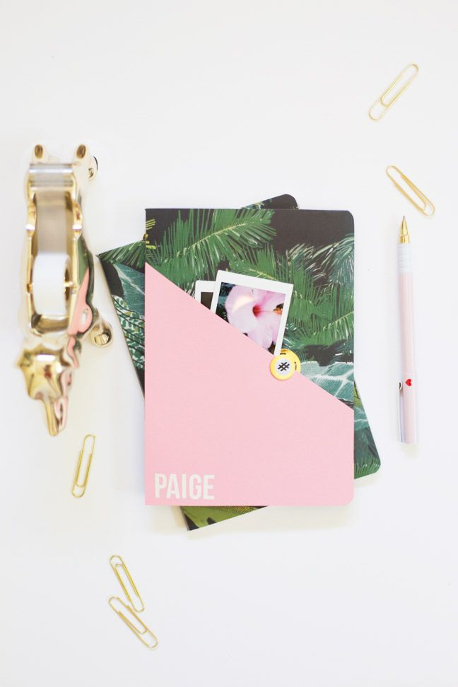 diy-personalized-composition-notebook-pink-gold-palms1