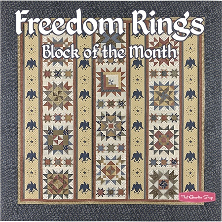 Freedom Rings Block of the Month - Receive one block at a time and then you have a complete quilt after 7 months!Quilts I, Quilt Ideas, Quilt Design, Quilts Bom, Quilt Bom, Piece Quilt, Classic Quilt, Bom Quilt, Complete Quilt