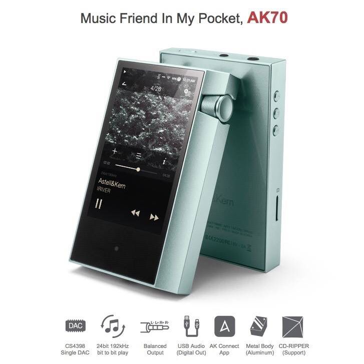 #AstellnKern #AK70 #DAP #DigitalAudio #DigitalAudioPlayer #HiResAudio #New #Hot