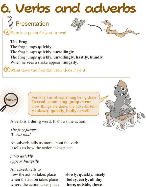 Grade 3 Grammar Lesson 6 Verbs and adverbs