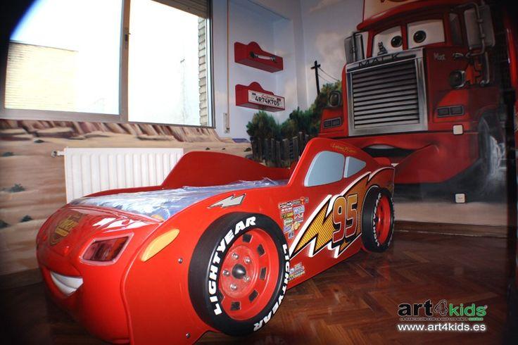 Habitación temática cars para niños