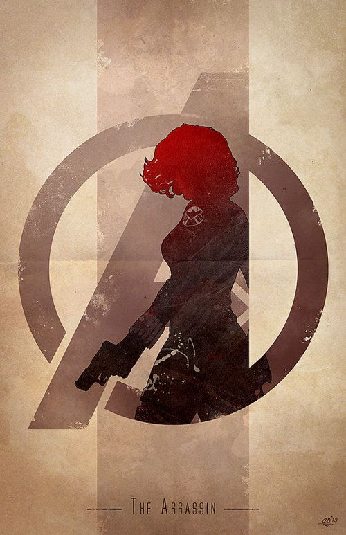 AVENGERS Character Logo Art!!! BLACK WIDOW