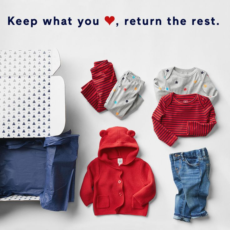 For instant cuteness, think inside the box: Get 6 mix-and-match pieces delivered every 3 months with babyGapOutfitBox. Keep what you love, send back the rest.  Sign up now!
