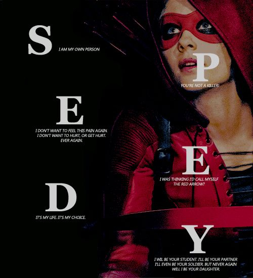 Arrow ( TV series ). Willa Holland as  Thea Queen, The Speedy.