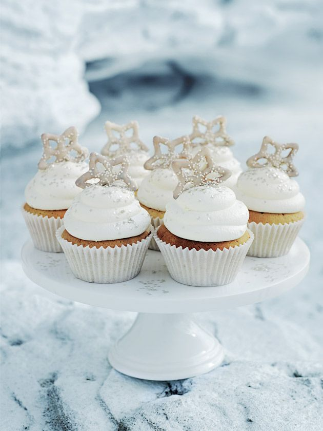 Donna Hay Snowflake Cupcakes. I added 1/3 cup sprinkles to ...