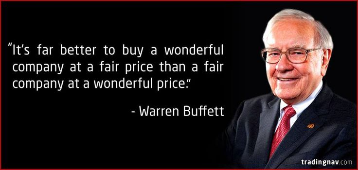 Its far better to buy a wonderful company at a fair price
