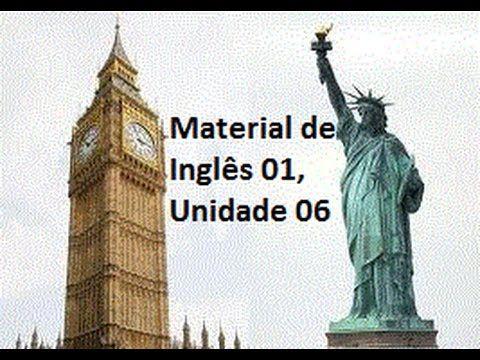 Material de Inglês 01, Unidade 06