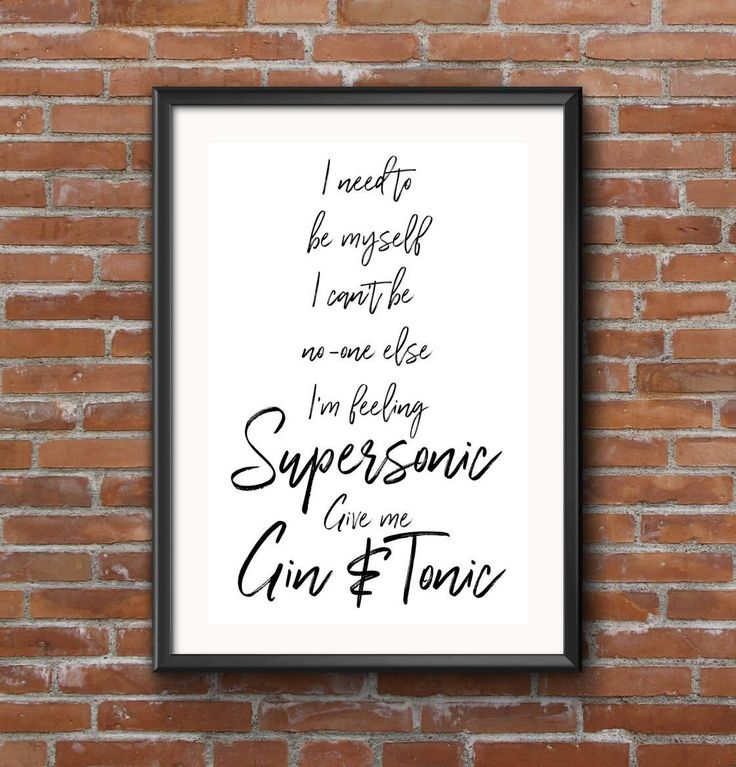 Impression typographie supersonique oasis, musique, paroles, Gin et Tonic, impression, impression numérique de la maison par LittleEra sur Etsy https://www.etsy.com/fr/listing/542559888/impression-typographie-supersonique