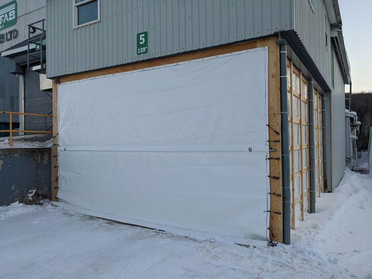 We Custom Manufacture Tarp Doors For Enclosing