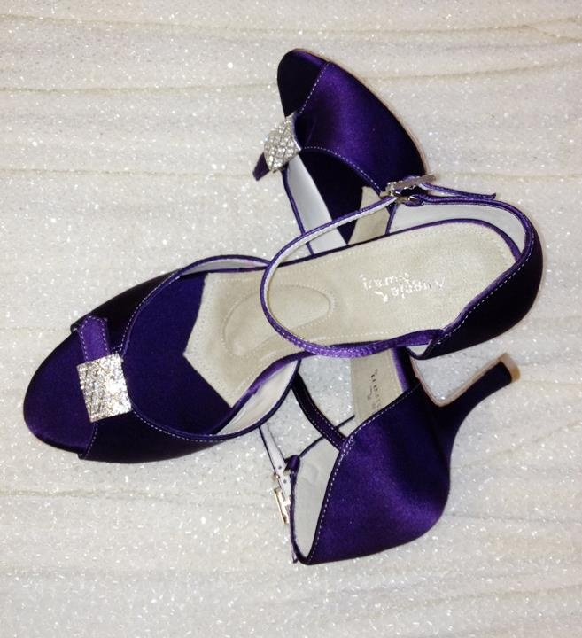 Stunning Angela Nuran Parisienne Wedding Shoes Dyed Eggplant Exclusive To The Left Bank In