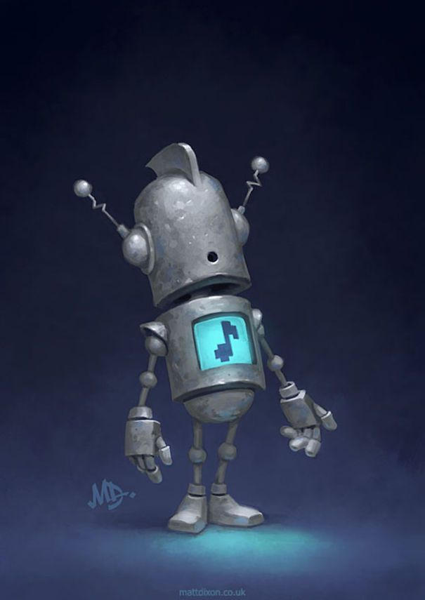 Robots And The Wonder of Life  Robot art Robot cute Robots artworks