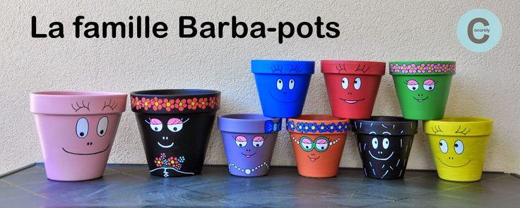 Pots de fleurs - famille Barbapapa