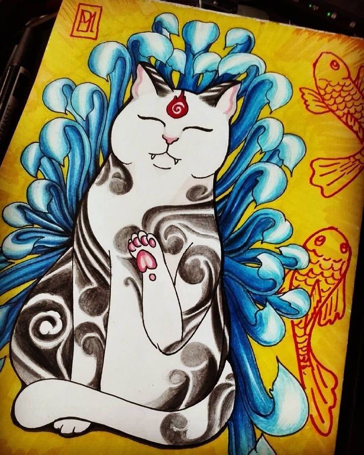 Love cats #tattoocat #cat #kitties #artcollective #art #picture #drawing #instapic #instagallery #gdansk #like4like #tattoos #tattooartist #chrysanthemum #kot #rysunek #polycolor #promarker #art_collective_mag #artwork #artist_magazine #artist #color #gdansk #trojmiasto #tattoodesign #desing #instagram