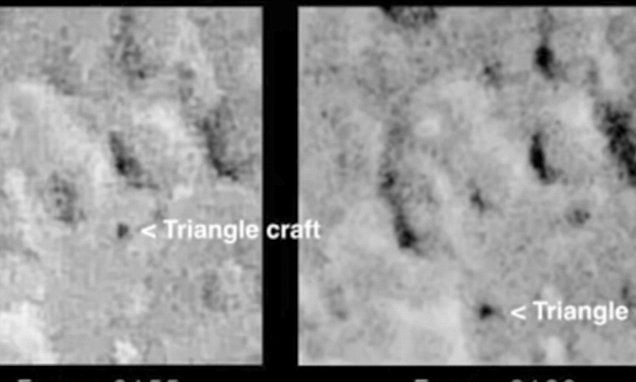 Footage of triangular-shaped UFO is 'proof' of an air base on the moon