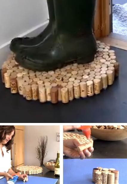 Think this would be an awesome place to place wet shoes/boots this winter.  Just need to start collecting more corks. Which means more yummy botles of wine.