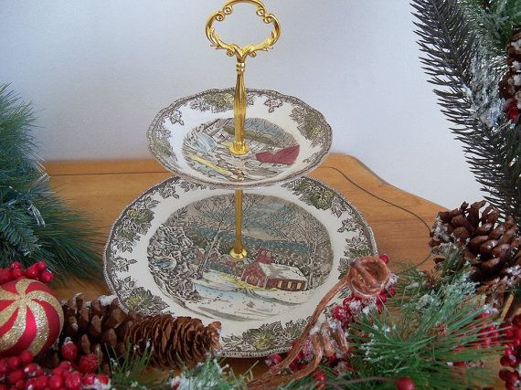 Vintage cake stand by Johnson Bros by YorkshireTeaCupShop on Etsy