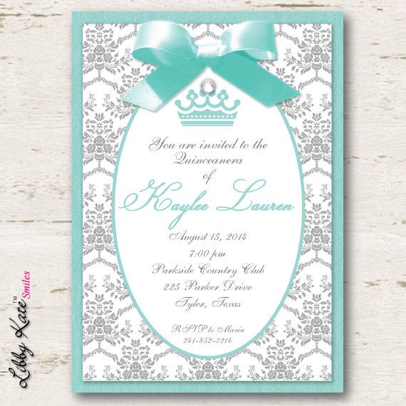 Quinceanera Invitations Sweet 16 Sweet 15 by LibbyKateSmiles