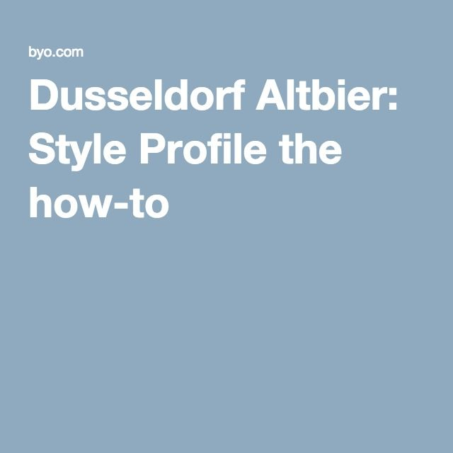 Dusseldorf Altbier: Style Profile the how-to