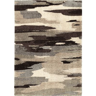 "The Conestoga Trading Co. Cyna Black/Gray Area Rug Rug Size: 5'3"" x 7'6"""