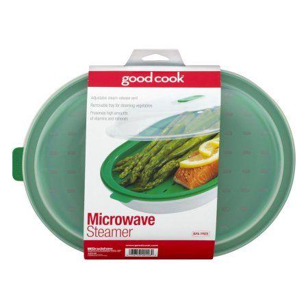 Good Cook Microwave Steamer, Green