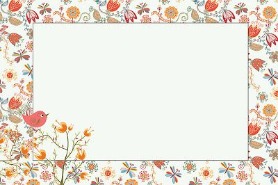 Jardim Encantado Passarinho Laranjado - Kit Completo com molduras para convites, rótulos para guloseimas, lembrancinhas e imagens! - Fazendo a Nossa Festa |