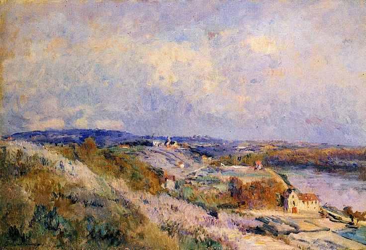 The Hills of Herblay in Spring. Albert Lebourg