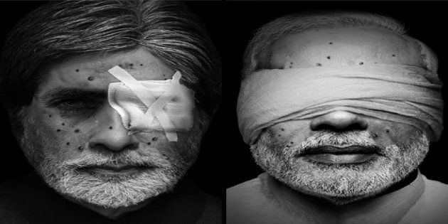 Morphed Celebrity Faces With Pellet Wounds Highlight Kashmiri Plight