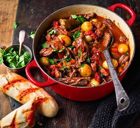 Beef and red wine stew: Stay toasty when the chill hits with these simply soup-erb stew, all in one bowl!