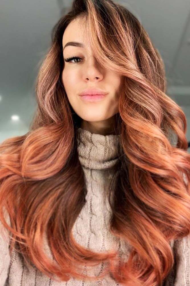 Rose Gold Balayage For Brunettes Waves #balayage #rosegoldhair ★ You have probably noticed that rose gold hair is in for…