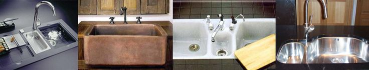 copper sink and cabinets