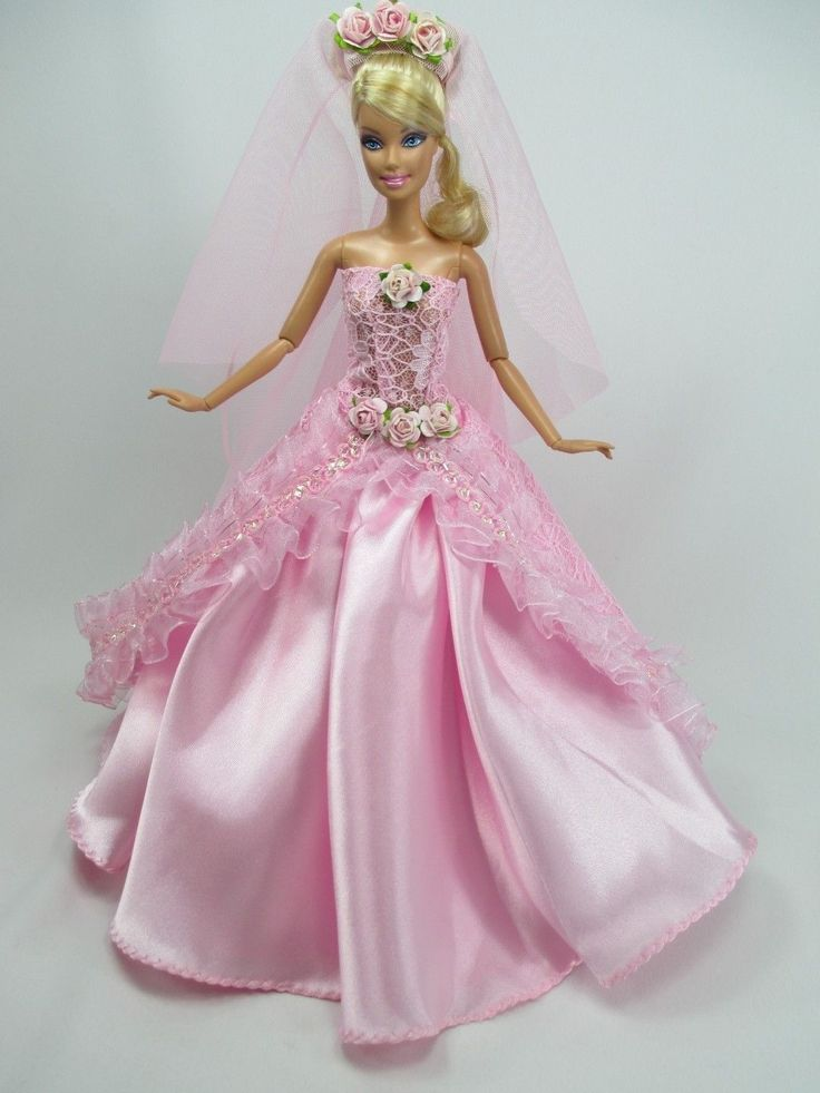 487 best images about barbie mari e 4 on pinterest new for Wedding dresses for barbie dolls