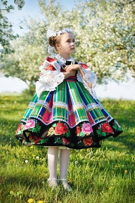 Costumes traditionnels Filles d'Europe, Pologne
