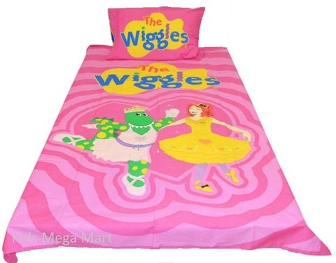 The Wiggles Emma & Dorothy Pink Single Doona Quilt cover Set