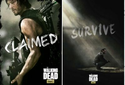 """29"""" X 38"""" cloth with grommets for easy hanging """"The Walking Dead"""" banners. In store now $19.99"""