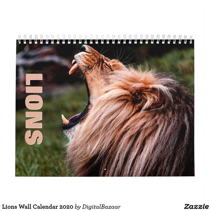 Lions Wall Calendar 2021 Wall calendar
