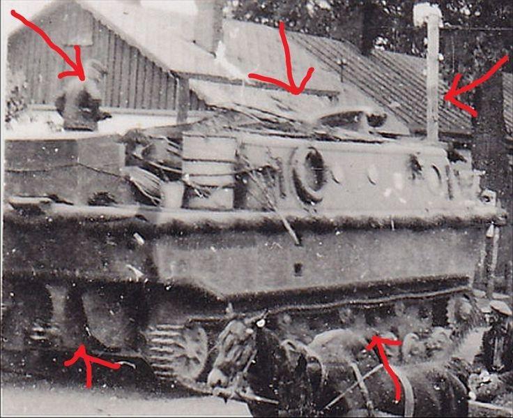 rare view of a Land-Wasser-Schlepper LWS 300 Schwimmpanzer Kettenfahrzeug