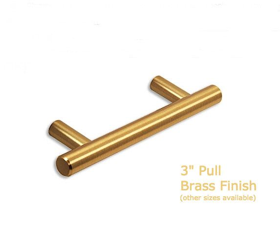 Fresh Brushed Brass Bar Pull