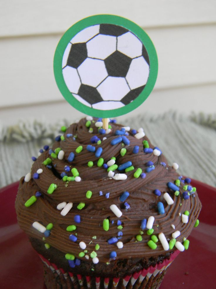 SOCCER cupcake toppers: Sports cupcake picks, Soccer cupcake decoration, Soccer theme party by PagesbyNat on Etsy