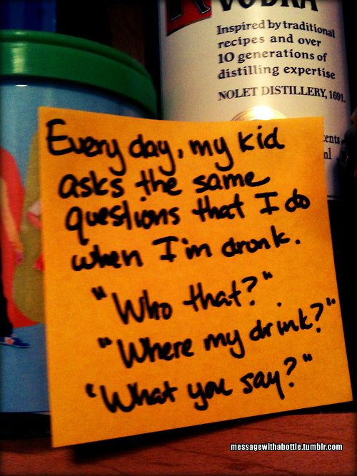 Message With A Bottle-funny post it reflections from a stay at home dad....so funny!