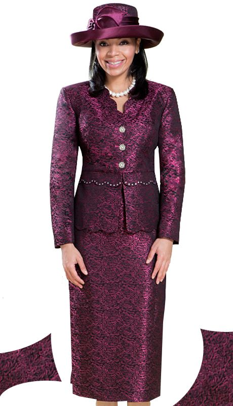GV0697-ROSE,Giovanna Fall And Holiday Womens Church Suit 2015
