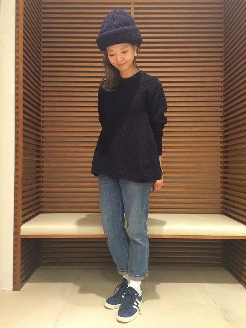 ショップスタッフ yamashita sayoko│ACNEのニット・セーターコーディネート-WEAR