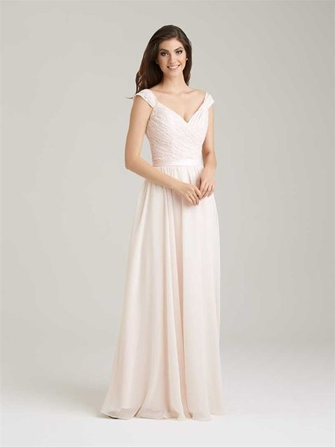 Allure Bridesmaids #1463 THIS style but in a muted lavender/wisteria/soft plum