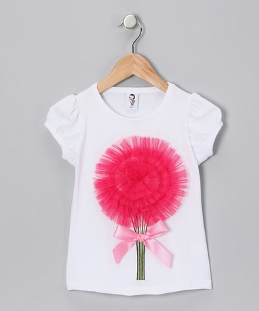 Take a look at this Hot Pink Lesley Tee - Toddler & Girls by 2 Crystal Chicks on #zulily today!