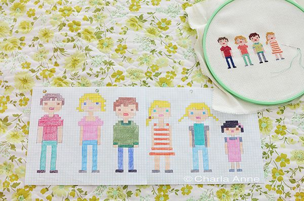 charla anne   sketch your own on graph paper first.  so cute!