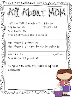 All About Mom Packet Mother S Day Activitiesholiday