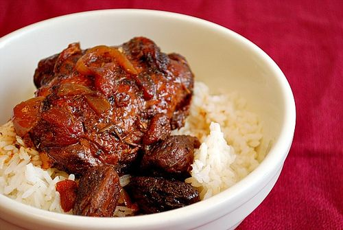 Fig Balsamic Chicken - Crockpot.  Fill your kitchen up with the savory aroma of chicken braising in balsamic vinegar and dried figs.