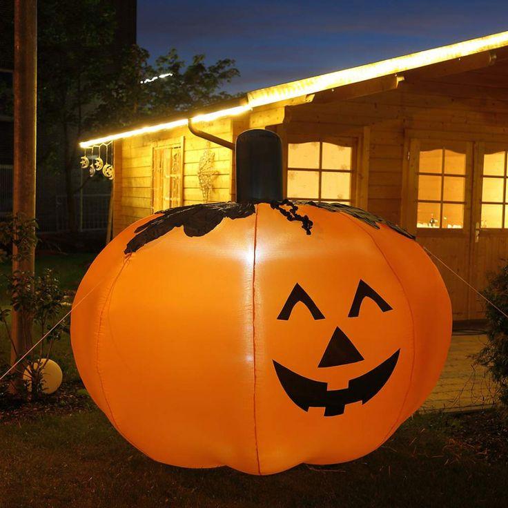 Halloween Kürbis 2,0 m hoch aufblasbar beleuchtet Garten-Dekoration