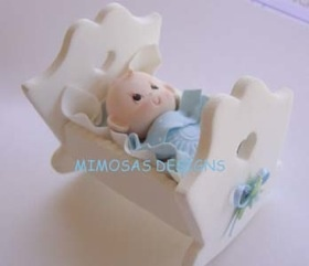 Find This Pin And More On COSAS EN PORCELANA FRIA By Leticiachaves. Baby In  Cradle .