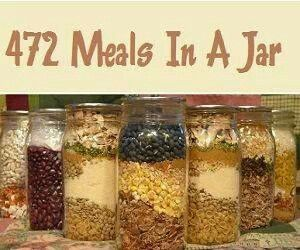 472 Delicious Meals In A Jar  http://www.diyhomeworld.com/472-delicious-meals-in-a-jar/    Make your budget stretch even further with these deliciously delightful make ahead meals.